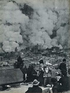 San Francisco earthquake and fire, 1906. Over 225,000 of the city's 400,000 residents were homeless. Fires destroyed about 28,000 buildings and 500 blocks – ¼ of San Francisco.