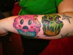 Zombie cupcake! #InkedMagazine #cupcake #zombie #cute #tattoo #tattoos #funny #ink #Inked