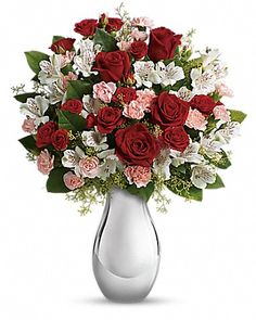 Teleflora's Crazy for You Bouquet with Red Roses Bouquet