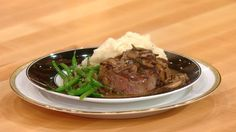 Rachael Ray Show - Food - Fancy Filet of Beef With Marsala Sauce, Roasted Garlic Mashed Potatoes and Green Beans