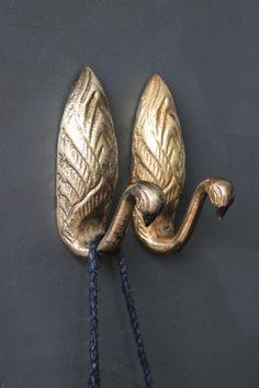 Metallic Swan Hooks - 3 Colours Available #wallhooks #knobsandhooks #swan…