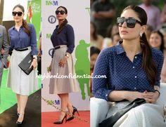 Sharmila, Saif and Kareena represented the Pataudi clan today at the family's namesake polo cup with Kareena mixing up polka dots in Zara separates and finishing out her look with a pair of Saint Laurent pumps, a black Ralph Lauren clutch and Chanel sunnies. Kareena looked nice but us, we wouldn't have picked that skirt. …