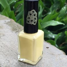 Mellow Yellow custom hand crafted nail polish by justricarda - tried