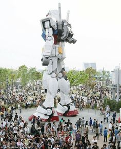 The giant Gundam robot standing guard over it's own Tokyo theme park.