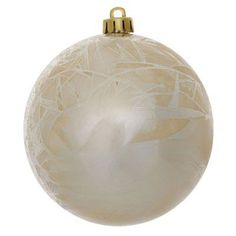 Vickerman 4 in. Crackled Ball Ornament - Set of 6 Champagne - N141038DV, Durable