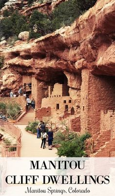 Visit the Manitou Cliff Dwellings in Manitou Springs, Colorado Spend the day at the Manitou Cliff Dwellings in Manitou Springs, CO. With easy access from Colorado Springs and Pueblo, it's a must-see for the whole family Denver Colorado, Road Trip To Colorado, Visit Colorado, Colorado Hiking, Colorado Springs Things To Do, Colorado Mountains, Red Rocks Colorado, Silverton Colorado, Pueblo Colorado