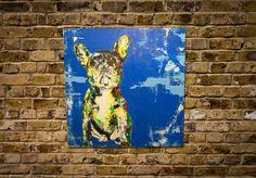 French Bulldog  original spray paint art  652mm×652mm   Painted on wood canvas  Artist TOMOYA  Averrable  info@spray-art.jp  http://www.spray-art.jp/
