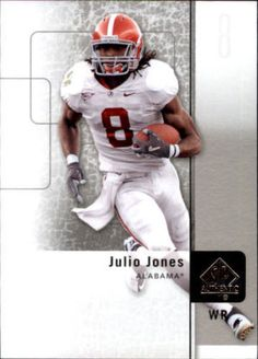 2011 Upper Deck UD SP Authentic Julio Jones #100 Alabama Crimson Tide WR #Alabama #RollTide #BuiltByBama #Bama #BamaNation #CrimsonTide #RTR #Tide #RammerJammer