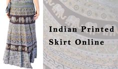 online Indian Printed Skirts are Available on Handicrunch