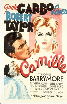 Camille (One-sheet poster featuring Robert Taylor as Armand Duval and  Greta Garbo as Marguerite Gautier; Turner Classic Movies)