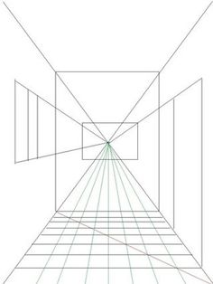 How to Draw a Room Using One Point Perspective : 11 Steps - Instructables One Point Perspective Room, Perspective Drawing Lessons, Perspective Art, 3d Drawing Techniques, Drawing Skills, Interior Architecture Drawing, Vanishing Point, Drawing For Beginners, Step By Step Drawing