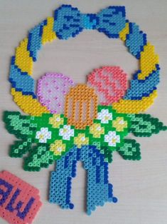 Pin by Jacqueline Chowanietz on Ostern Plastic Canvas Christmas, Plastic Canvas Crafts, Plastic Canvas Patterns, Diy Perler Beads, Perler Bead Art, Easter Projects, Easter Crafts, Hama Beads Patterns, Beading Patterns