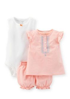 Carters  3-Piece Bodysuit Tank and Diaper Cover Set