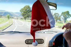 Christmas Driving in Summer royalty-free stock photo