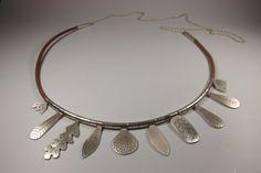 art jewelry by KristinaLici Metal Jewelry, Jewelry Art, Silver Jewelry, Jewelry Accessories, Jewelry Necklaces, Jewelry Design, Leather Necklace, Artisan Jewelry, Jewelery