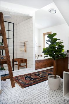 Bathroom Tile Ideas - Decorative Ceiling | Apartment Therapy