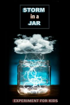 - Learn all about weather clouds and how they form with the storm in-a-jar experiment for kids. This glow in the dark science project is sure to wow all ages! – hot kid science experiments , science for kids , science , kid Science Projects For Kids, Science Crafts, Science Activities For Kids, Fun Crafts For Kids, Science Humor, Kids Fun, Cloud In A Jar, Easy Science Experiments, Weather Experiments