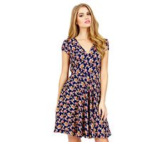 TINY FLOWERS SHORT SLEEVE DRESS: Betsey Johnson