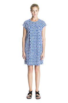 Voda Dress White/Blue
