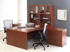 10pc L Shape Modern Contemporary Executive Office Desk Set, #JS-PRO-L7