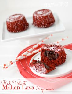 Red Velvet Molten Lava Cupcakes