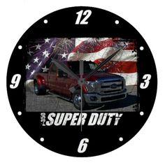 2013 F-350 Super Duty SuperCrew Lariat Dually Large Clock