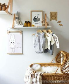 Rattan in Kids' Rooms - beds, chairs, toy storage. Baby Bedroom, Baby Room Decor, Nursery Room, Boy Room, Kids Bedroom, Nursery Decor, Kids Rooms, Room Kids, Leather Strap Shelves