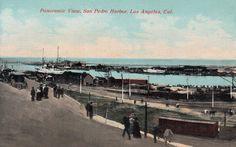 San Pedro Harbor around 1907. (Bizarre Los Angeles)
