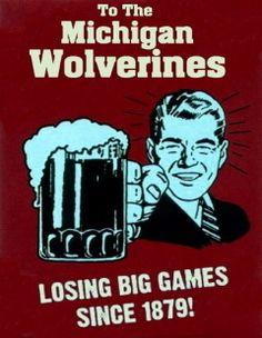 FRAMED HATE Michigan Bar Room Sign Ohio State Buckeyes $18.00