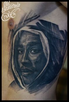 2Pac portrait done by Biex