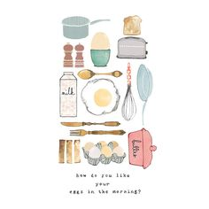 Ilustración de Foodie Print arte ilustración por bryonyfripp