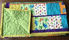 Handmade Nursery Modern Baby Blanket, Handmade Cotton Dinosaur Quilt >>> More info could be found at the image url.