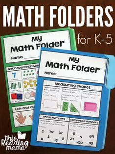 Free Math Folders for K-5 Learners - This Reading Mama