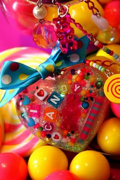 resin candy necklance | Love Candy - Candy Sprinkles Glitter Resin Necklace | Flickr - Photo ...