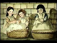 National Film Board of Canada - Life in Early Canada 03 - Woolly's Gift making a dress