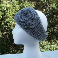 Knit Look Headband w Irish Rose