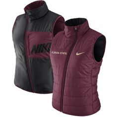634be409 Size small Puffer Vest, Garnet, Florida State Seminoles, Fitness, Sports,  Nike