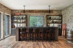 17 Fabulous Home Bar Designs Your Home Desperately Needs - Style Motivation Home Bar Designs, Design Your Home, Home Inc, Custom Cabinetry, Bars For Home, Decoration, Bar Stools, Liquor Cabinet, Flooring