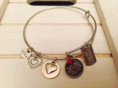 Alice and wonderland Bangle Bracelet Adult by FairytaleBangles