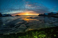 Oceans Aurora Borealis Photo by Anders Hanssen -- National Geographic Your Shot