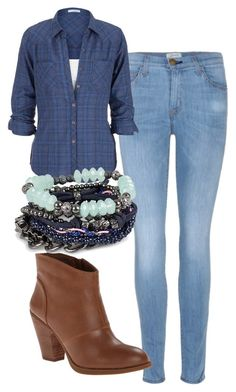 """""""Elena Gilbert Inspired Outfit"""" by mytvdstyle ❤ liked on Polyvore featuring Current/Elliott, Jessica Simpson, Pieces, women's clothing, women's fashion, women, female, woman, misses and juniors"""