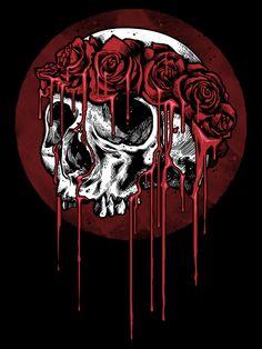 Skull n Roses by Geno75