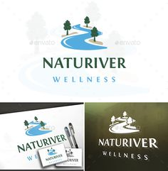 Buy Natural River Logo by BossTwinsArt on GraphicRiver. You can change text and colors very easy using the named and organ. Logo Desing, Best Logo Design, Graphic Design, Business Brochure, Business Card Logo, River Logo, Road Logo, Brewery Logos, Plant Logos