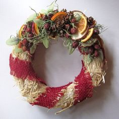 Christmas Wreath Rustic Christmas Wreath by InTheBluebellWoods