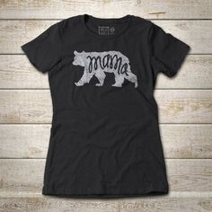 Mama Bear tee shirt is a fun design to wear with any outfit. This original artwork is printed on our 60% /40% combed ring-spun cotton, polyester jersey tees. They are super comfortable and have minimal to zero shrinkage. The light weight makes it your favorite vintage style tee, super soft and slightly heathered texture and coloring. These tees hold up to lots of wear. No scratchy neck label either! We really love our T-shirts and know you will too.
