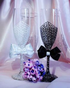 Wedding glasses  Champagne glasses  by NewYorkCandleFactory, $59.95