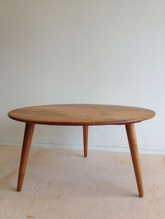 Here Is A Great Piece Designed By Hans J Wegner For Andreas Tuck The Coffee Table Has Solid Oak Top Supported Three Legs