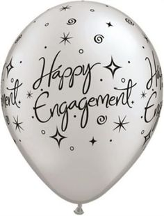 Silver elegant engagement latex balloons http://www.wfdenny.co.uk/p/elegant-engagement-balloons--silver/1799/