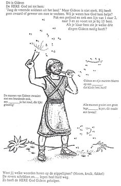 gideon coloring pages for sunday school | God Gave Gideon Courage Puppets - Children's Bible ...