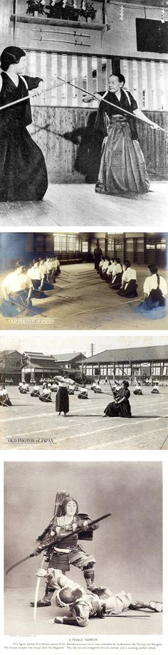 woman in Japanese sword class Onna-bugeisha